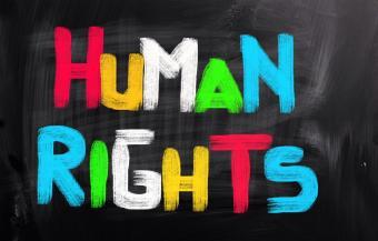 Human rights sign
