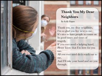 Thank You My Dear Neighbors Poem