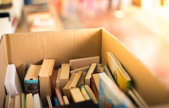 books at a charity