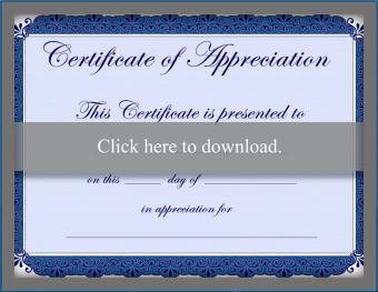 Free certificate appreciation