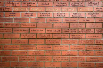 red brick wall of fame