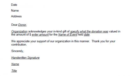 Donation thank you letter template click to download the in kind template spiritdancerdesigns