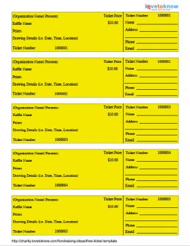 Raffle Ticket Template  Create A Ticket Template Free
