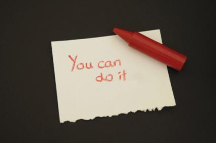 Note of encouragement