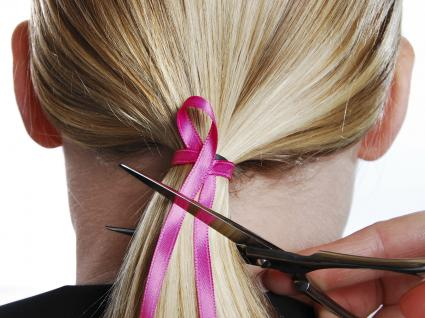 Image of a ponytail hair donation
