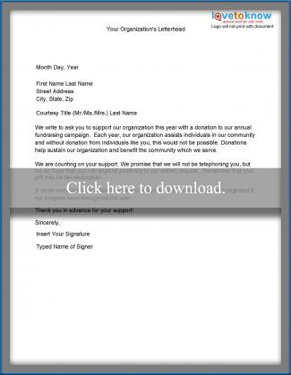 Samples of non profit fundraising letters fundraising campaign donation letter thecheapjerseys Choice Image