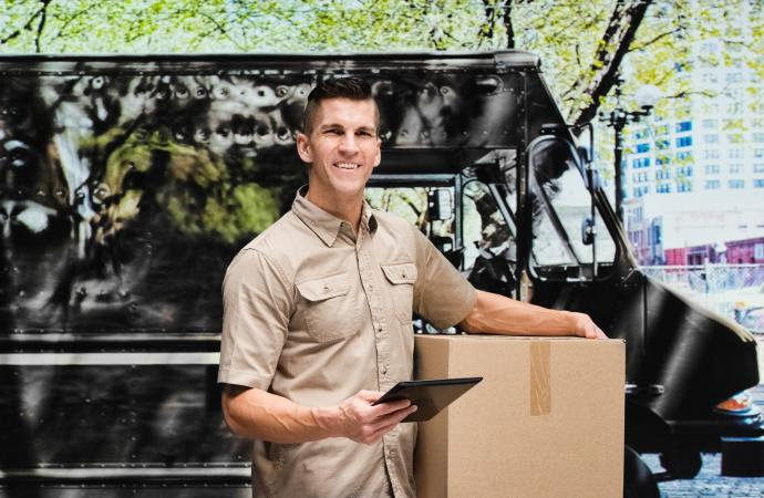 UPS driver holding box