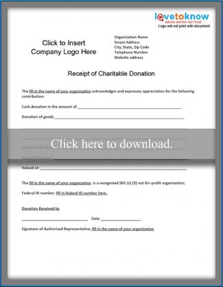 charitable donation receipt lovetoknow
