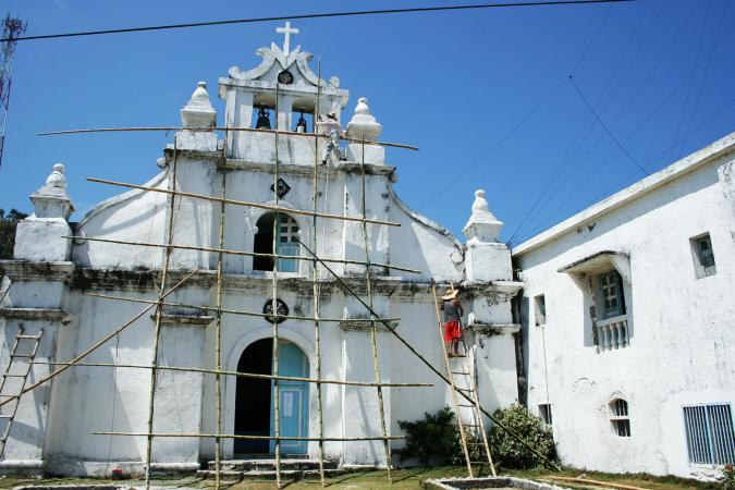 Repainting the church