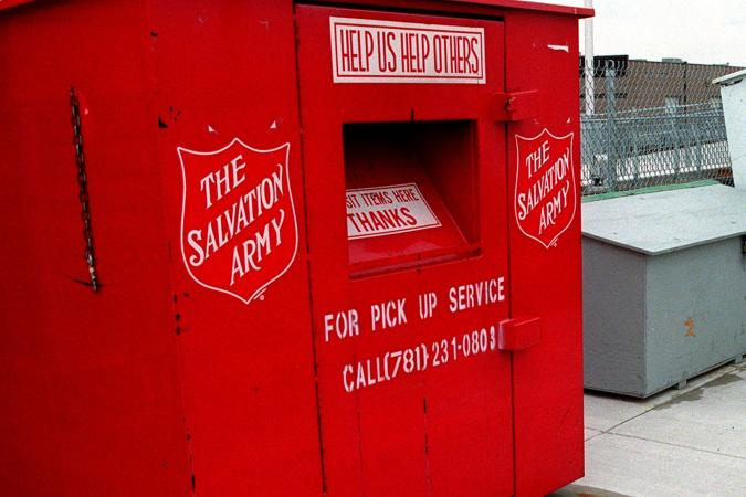 Salvation Army donation box in Newburyport