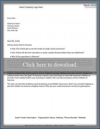 Free Sample Letters to Make Asking for