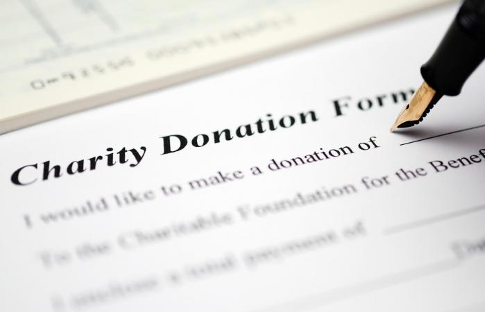 Charity donation form