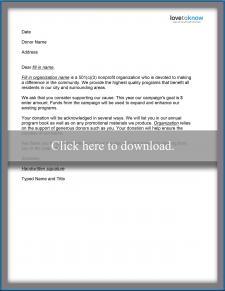Basic Donation Letter Template