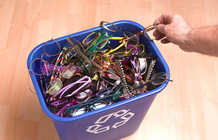 Charity recycling glasses