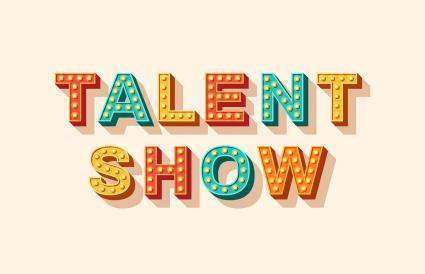 Talent show lettering