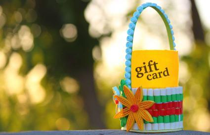 Gift certificate basket