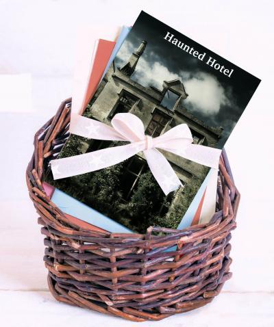 Haunted hotel gift basket