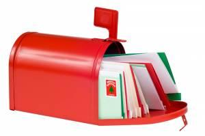 Charity holiday card cards in mailbox m4hsunfo