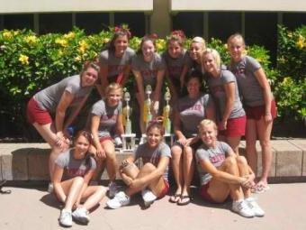 DU Cheer Squad at Cheer Camp 2011