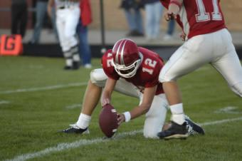 Kicking for the extra point