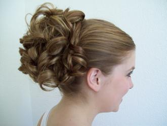 Roller wave cheerleading competition hair piece