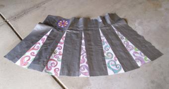 Duct tape cheerleader skirt