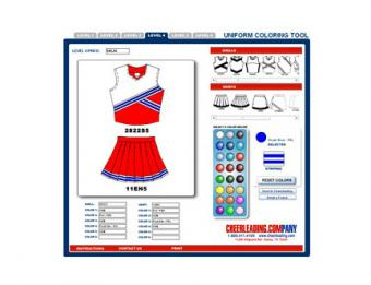 Cheerleading.com Design Tool