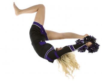 falling cheerleader