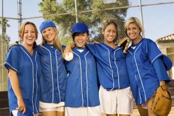 Softball Team Celebrating Victory