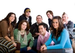 class of high school students