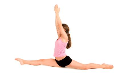 Practice makes perfect when doing the splits.