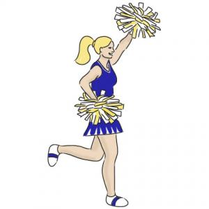 Cheerleader Clip Art 3