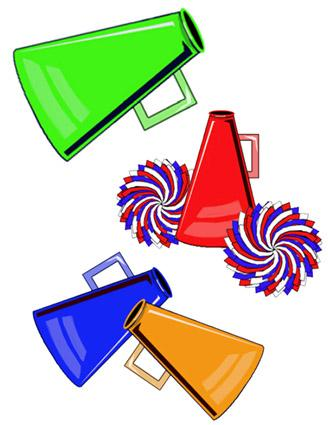 megaphone clipart rh cheerleading lovetoknow com go team banner clipart go team clip art free pictures