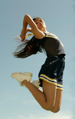 Hip hop cheerleader