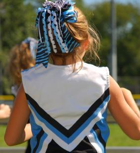 Cheerleader ideas hair with ribbons
