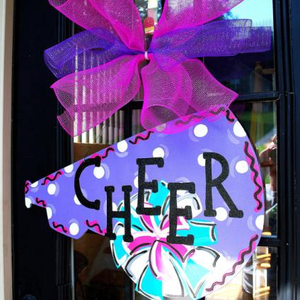 Cheerleading Locker Decorations. Door Hanger Cheerleader Decoration  Personalized Megaphone Cheer Camp Tips LoveToKnow