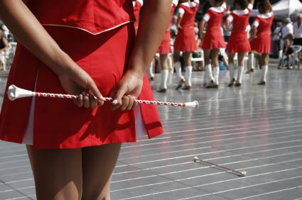 Color guard and batons