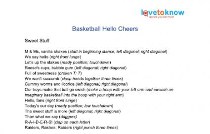 basketball hello cheers printable