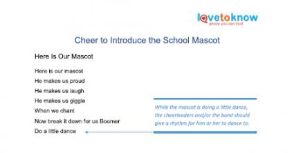 cheers to introduce school mascot printable