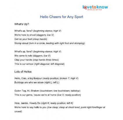 printable hello cheers for any sport