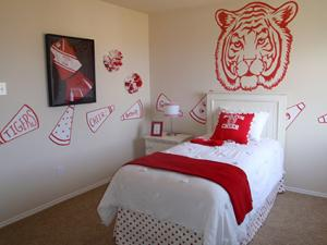 Cheer room from a model home designed by The Chameleon Company for D.R. Horton Homes, North Central Texas Division
