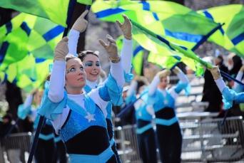 St. Patrick's color guard