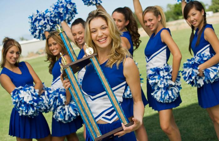 Cheerleading has evolved into a competitive sport.