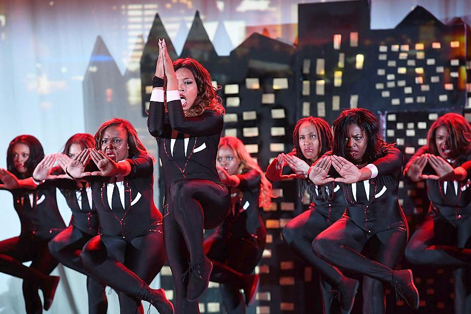 Delta Sigma Theta perform onstage at Morehouse College