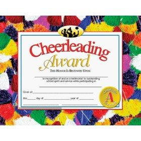 Cheerleading award lovetoknow cheer certificate yadclub Images