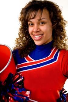laughing cheerleader
