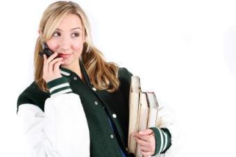 Girl in varsity jacket