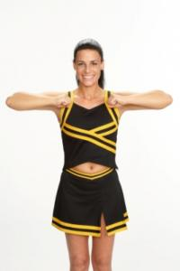 cheerleading showing broken T motion