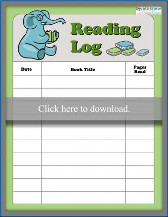 Elephant reading log