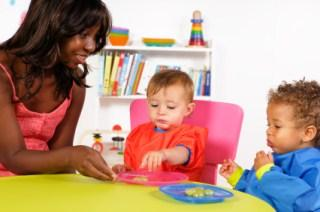 Toddlers eating healthy